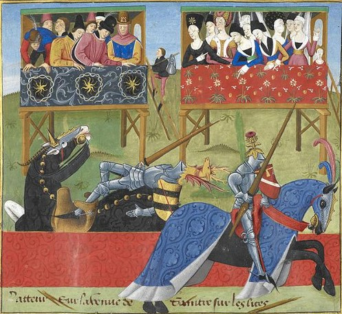 IlluminatedManuscript-MedievalJoust