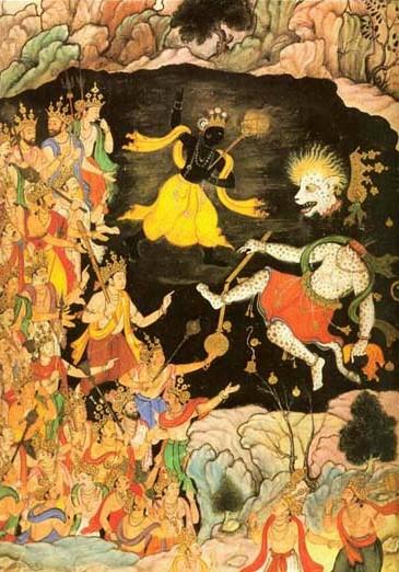 Krishna-MughalMiniature-VictoriaAlbertMuseum
